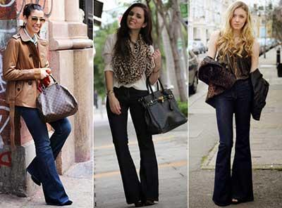 calças flare para mulheres