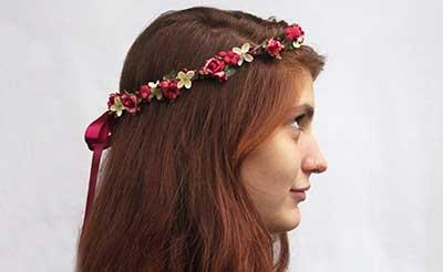 como fazer a tiara de flores