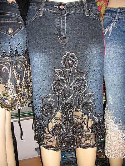 foto de saia jeans
