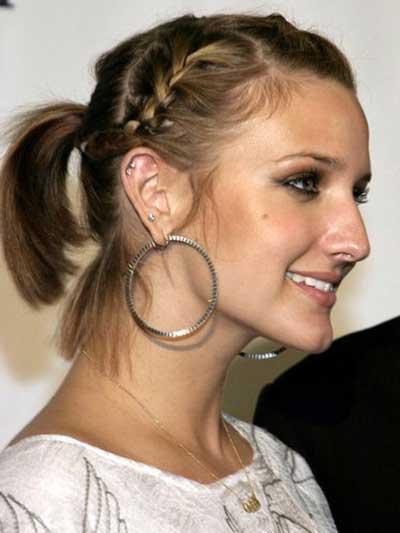 fotos de cabelos curtos com tranças