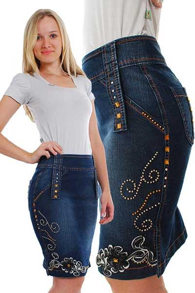 fotos de saias jeans