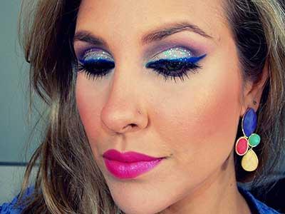 Maquiagem de Olho Azul