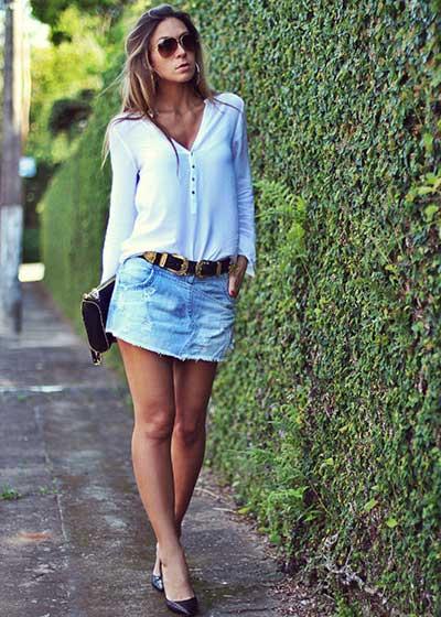 modelos de Short saia jeans