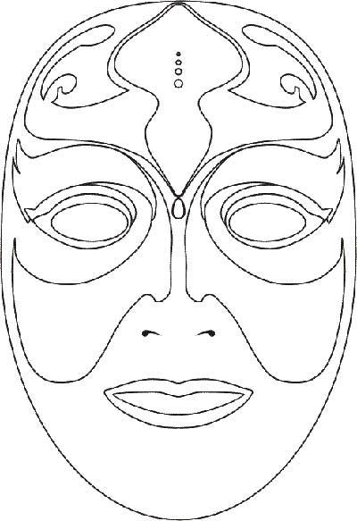 imagens de moldes de máscaras