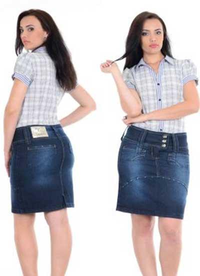 saias jeans da moda