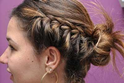 cabelos curtos com tranças
