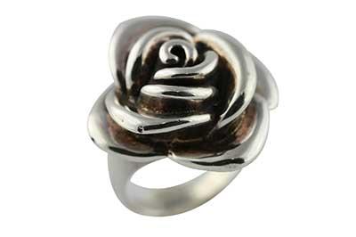imagem de anel de prata