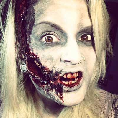 maquiagem de zumbi para mulheres