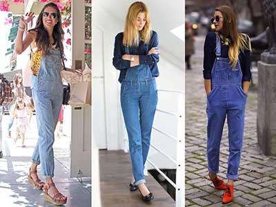 fotos de jardineiras jeans