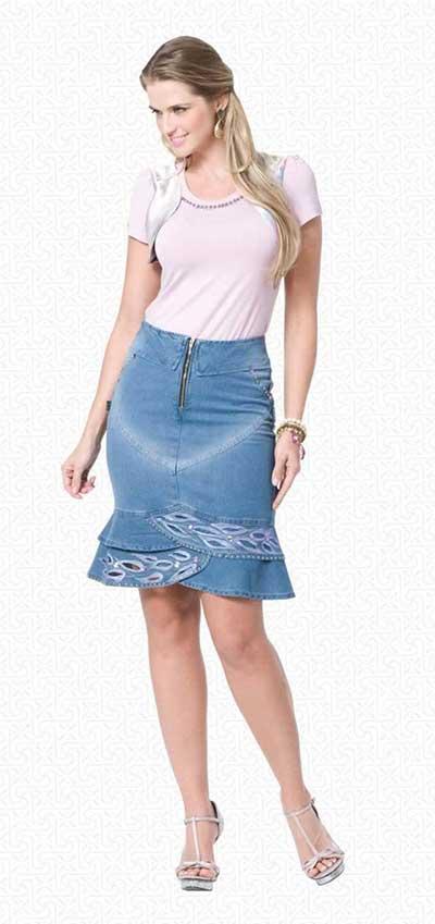 modelos de saias jeans