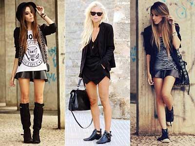 modelos de looks rock