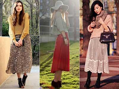 modelos de saias midi