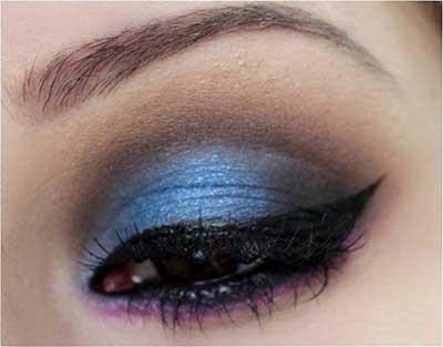 fotos de maquiagem azul