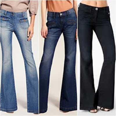 calças flare feminina