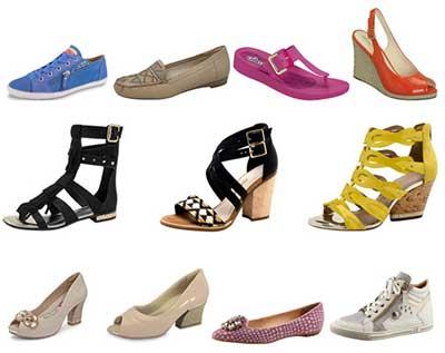 rasteiras e calçados