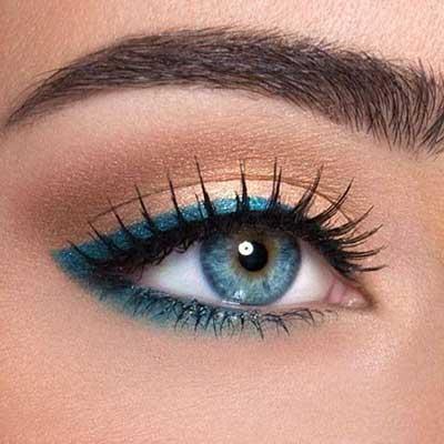 imagens de make de olho azul