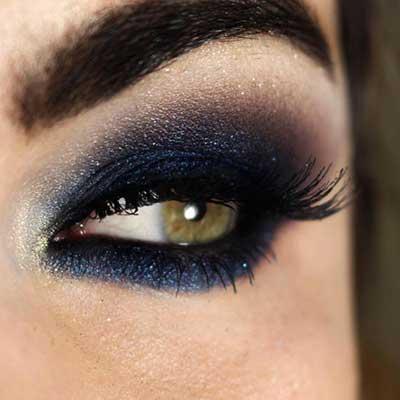 como fazer olho azul