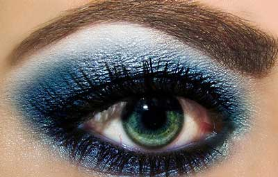 imagens de maquiagem azul