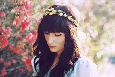 tiaras com flores da moda