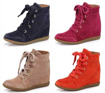 sneaker em várias cores