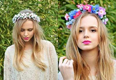 tiaras com flores
