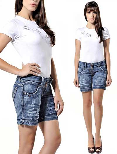 bermudas jeans para mulheres