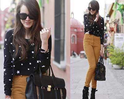 fotos de calças jeans cintura alta