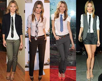 dicas de gravatas femininas