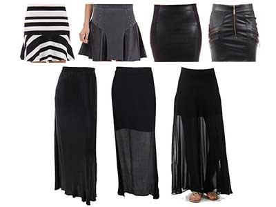 modelo de saia preta