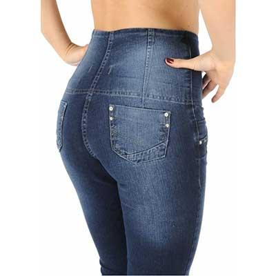 imagens de calças jeans cintura alta