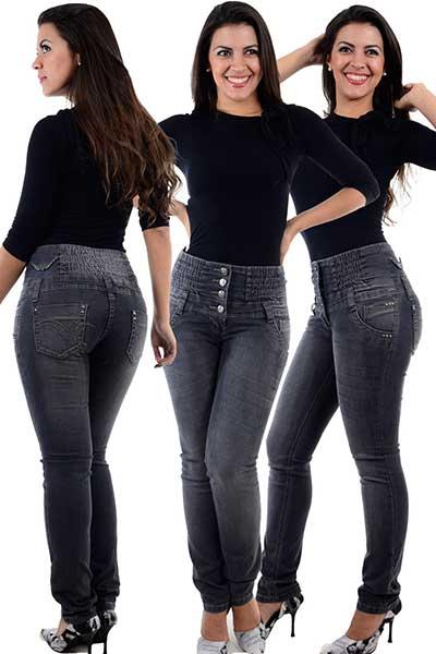 tendências de calças jeans cintura da moda