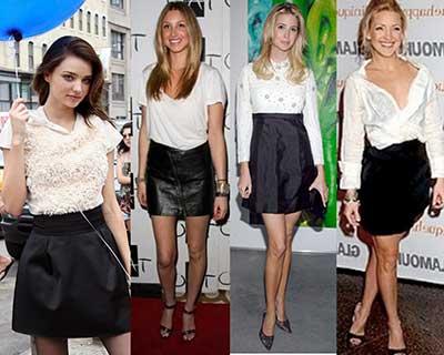 imagens de saias pretas