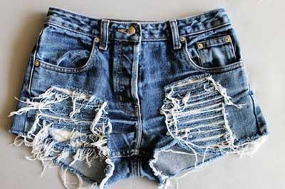 imagens de shorts desfiados