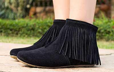 fotos de botas com franjas