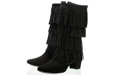 imagens de botas com franjas