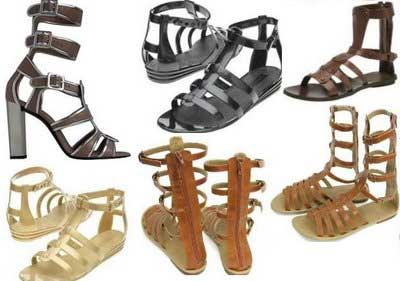 modelos de sandálias gladiadora