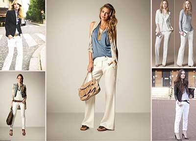 imagens de calças brancas