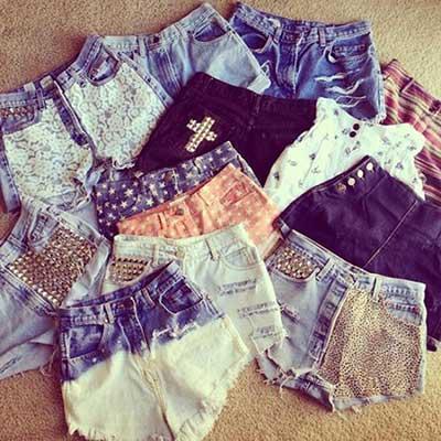 shorts desfiados
