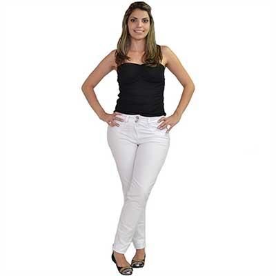 calças brancas jeans