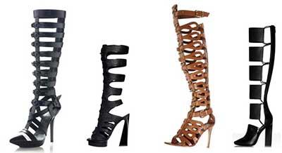 fotos de sandálias gladiadora