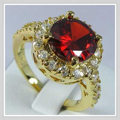 anel de rubi