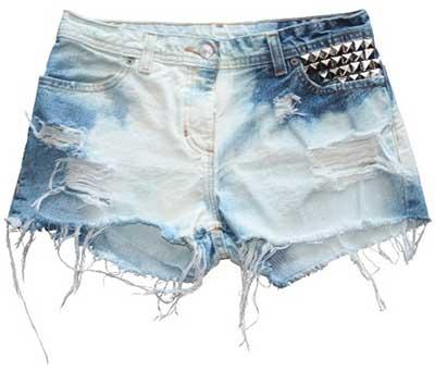 modelos de shorts desfiados