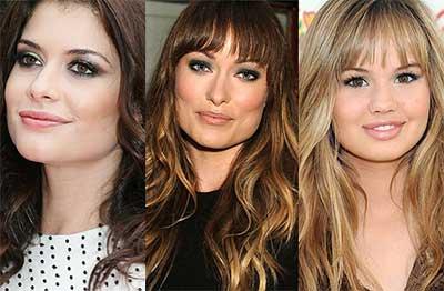 fotos de franjas para rosto redondo