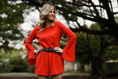 moda vermelha