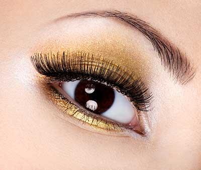 como fazer olho dourado
