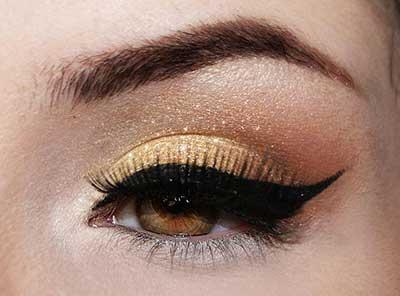 maquiar olho dourado