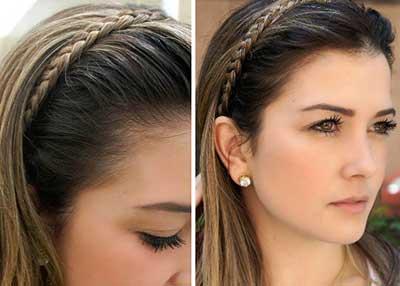 Penteados Simples Para o dia a dia delicada