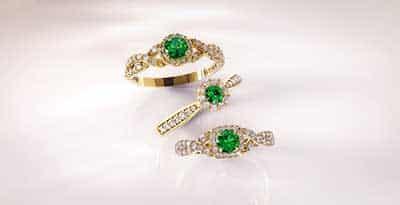 modelo de anel de esmeralda