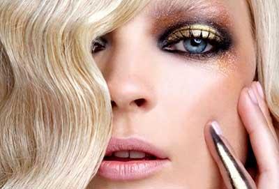 como fazer maquiagem dourada