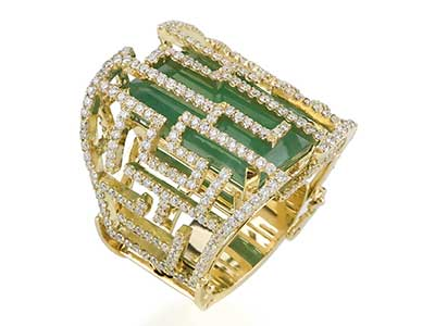 imagens de anéis de esmeraldas